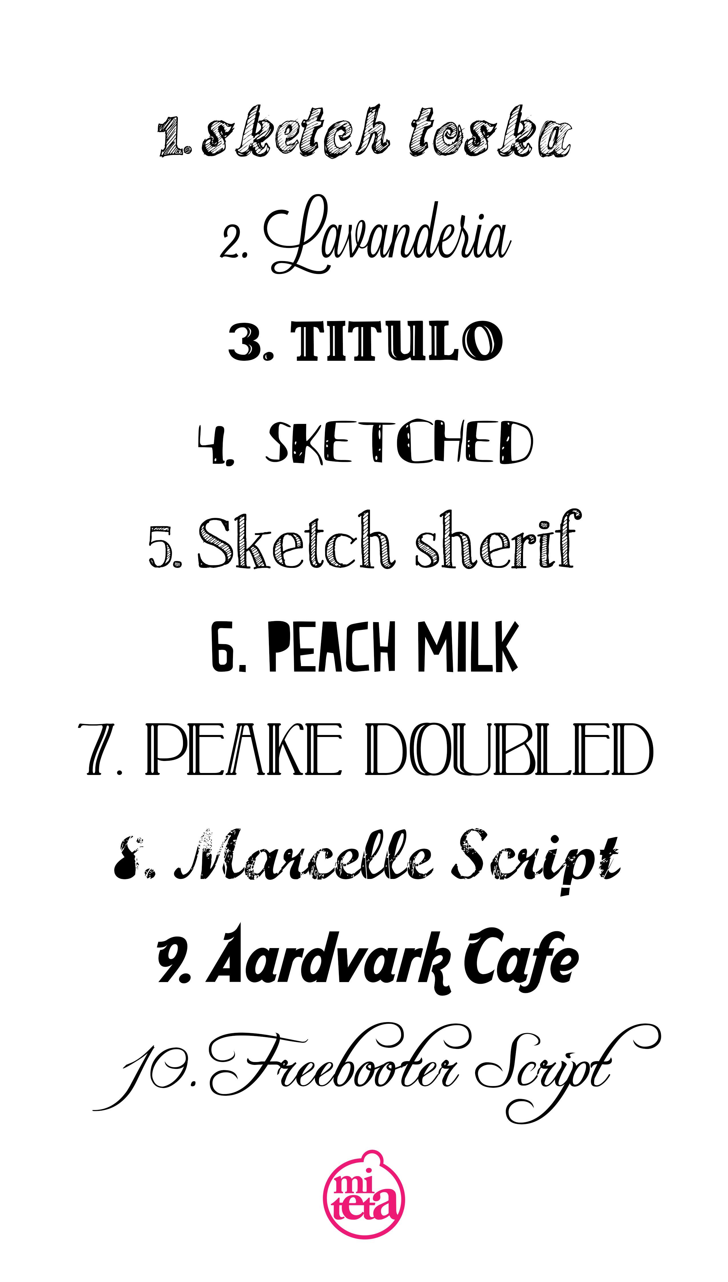 Tipograf a miteta for Estilos de letras